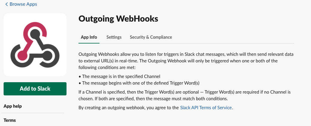 Outgoing WebHooks